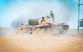 مواجهات العنيفة في ابين بين قوات الشرعية والانتقالي الجنوبي