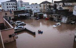السيول تغرق شوارع عدن للمرة الثالثة