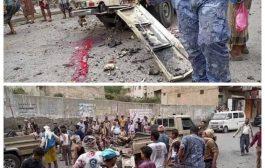 مقتل وجرح عشرة اشخاص في انفجار طقم عسكري بتعز