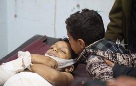 مقتل طفل وإصابة آخرين في قصف حوثي بتعز