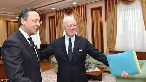 الحكومة السورية والمعارضة يتوصلان الي الوقف الشامل لاطلاق النار في مفاوضات استانا