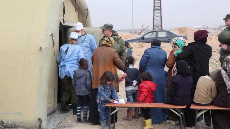 مركز حميميم يواصل عملياته الإنسانية في سوريا