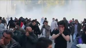 قصف للمنطقة الخضراء ببغداد وقتلي من بين المتظاهراين الصدريين