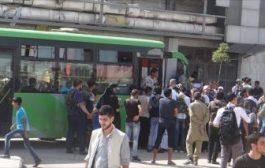 خروج أولى دفعات مهجري حي الوعر في حمص