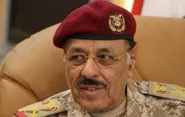 تلويح باقالة علي محسن الأحمر من منصبة