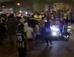 سيارة تدهس محتفلين بفوز الاتحاد بكأس ولي العهد في جدة