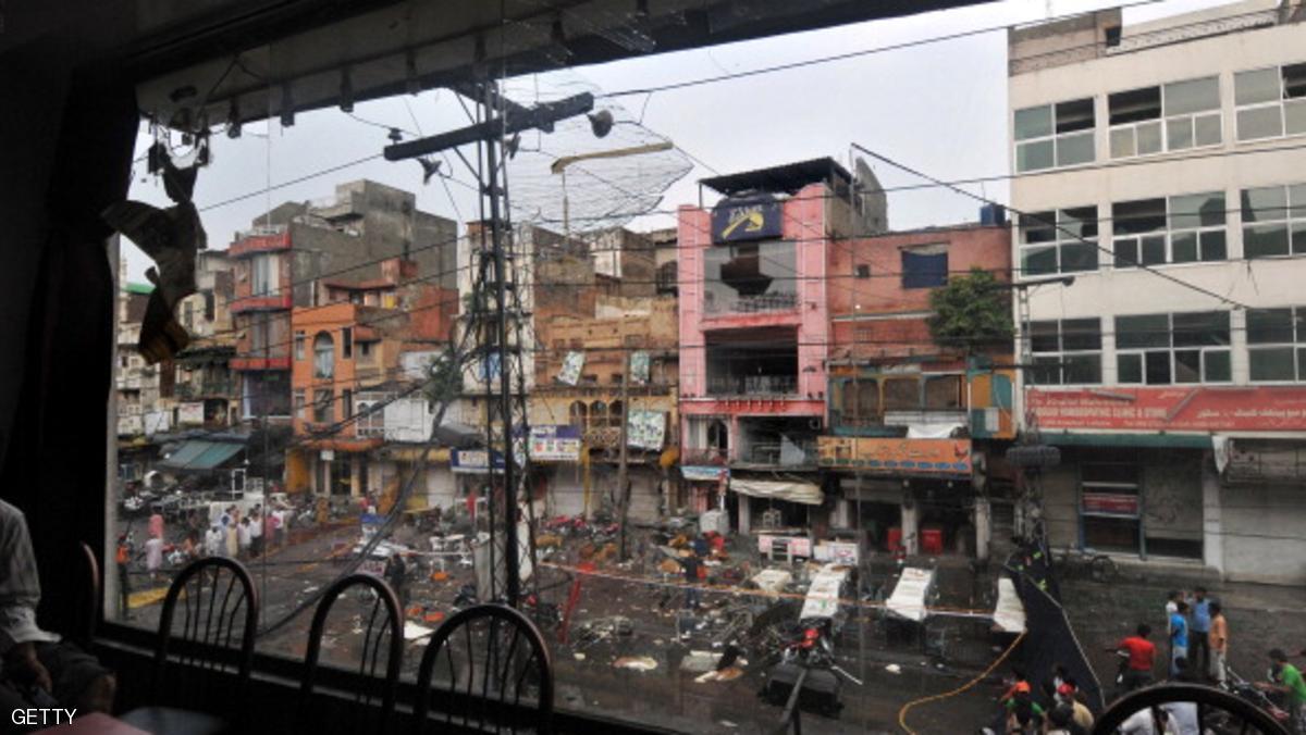 قتلى في انفجار بمدينة لاهور الباكستانية