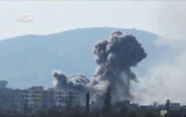 غارات جوية مكثفة على أرياف دمشق وحلب وحماة وإدلب