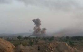 طائرات التحالف تشن غارات عنيفة على معسكرات الانقلابيين في آل صبحان وبني عوير والصفراء بصعدة