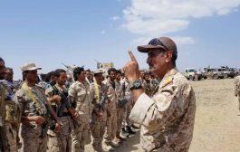 نجاة قائد اللواء 35 مدرع عدنان الحمادي من محاولة اغتيال بتعز.