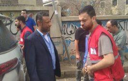 مدير عام المعافر يستقبل بعثة الهلال الأحمر التركي ويطلعه على احتياجات المديرية من المشاريع التنموية