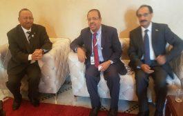 وزير المغتربين اليمني يلتقي بعدد من نظرائه في الدول العربيه على هامش مشاركته في المنتدى الدولي للهجرة