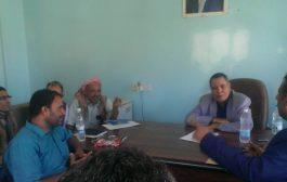 الوكيل الصنوي يعقد اجتماعا بالسلطة المحلية لمديرية المعافر