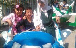 رحلة ترفيهية لطلاب وطالبات مدرسة تنمية المعاقين حركيا بتعز