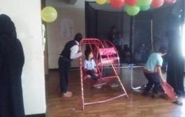 تعز: مبادرة بناء الحالمه تنظم يوما مفتوحا لأطفال التوحد وتسلم مركز الامل وسائل تعليميه
