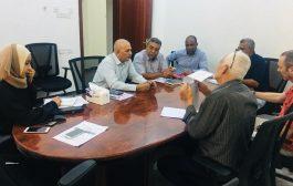 وكيل وزارة المياه والبيئة يناقش خطة عمل اوكسفام لهذا العام
