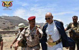 محافظ تعز يزور اللواء 35 مدرع ومستشفى المواسط الريفي