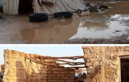 مأرب: أمطار غزيرة تتسبب في تضرر أكثر من 200 منزل من منازل النازحين
