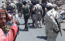 مقتل واصابة عشرات الحوثيين  وتدمير ثلاثة اطقم لهم بقطاع حجر غرب الضالع