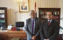سفير اليمن لدى بريطانيا يلتقي الأمين العام والرئيس التنفيذي للغرفة التجارية العربية- البريطانية