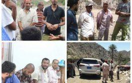 لحج: مدير عام مديرية المقاطرة يقوم بزيارة زريقة الشام واليمن