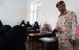 قيادة قطاع الحجرية العسكري تتفقد سير العملية الامتحانية بمدينة التربة