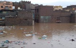 تضرر عدد من منازل المواطنين في لحج نتيجة الأمطار الغزيرة