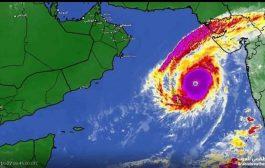 الأرصاد اعصار كيار يتطور إلى الدرجة الرابعة ويتجه إلى سواحل المهرة وسقطرى وخليج عدن
