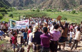 وقفة احتجاجية بالمقاطرة تندد بالسجون السرية في تعز