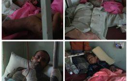 مليشيات الحوثي تقصف الأحياء السكنية شمال الضالع وإصابة مدنيين إثنين