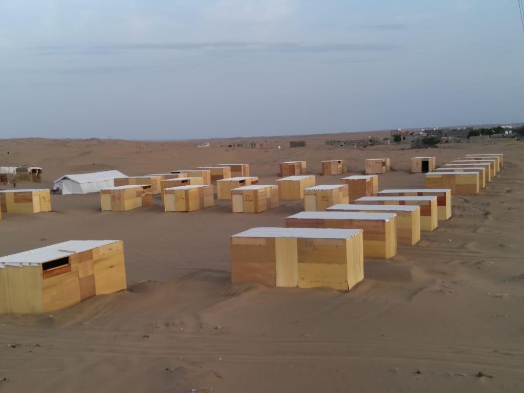 استكمال التجهيزات النهائية لمخيم النازحين بئرناصر العند بمديرية تبن