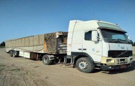 شرطة لحج تضبط شاحنة تحوي مادة الاسيد الخام