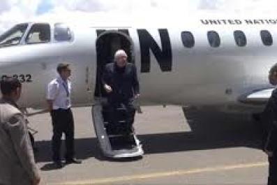 مارتن عقب تقديم إحاطته أمام مجلس الأمن..  يصل صنعاء