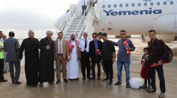 وصول أول طائرة إلى مطار الريان الدولي