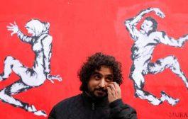 جدارية للفنان المبدع مراد سبيع تذهل المارة في شوارع باريس