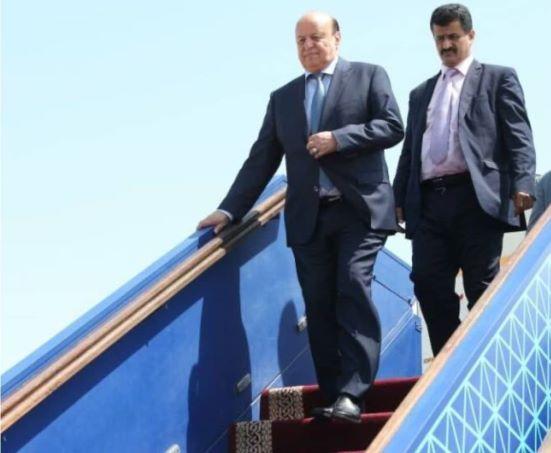 الكشف عن موعد عودة الرئيس هادي الى العاصمة عدن