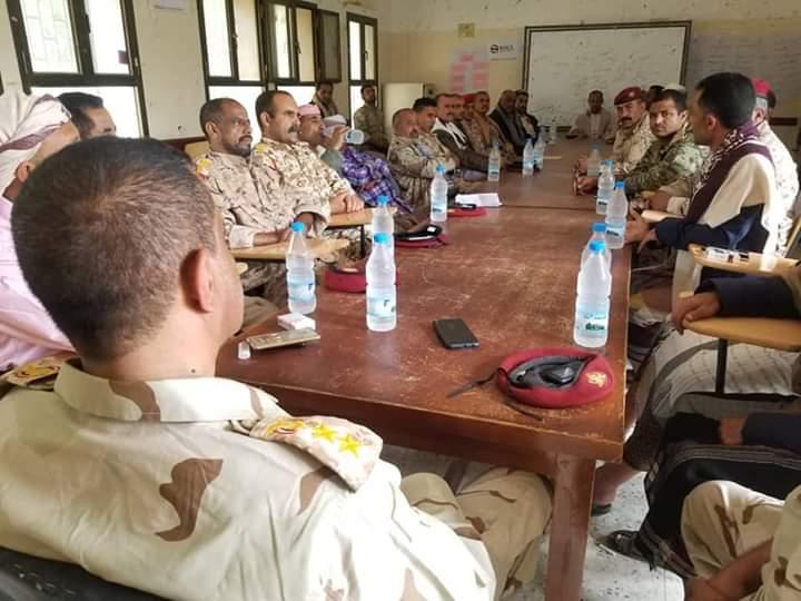 برئاسة أركان حرب اللواء   أول إجتماع لقيادة اللواء 35 مدرع منذ إستشهاد القائد