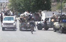 إشتباكات مسلحة بين عصابات نهب أراضي بتعز