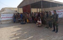 لليوم الخامس على التوالي منتسبوا قوات الأمن الخاصة بشبوة يواصلون اعتصامهم