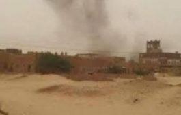 مقاتلات التحالف العربي تقصف مبنى الأمن السياسي في الجوف