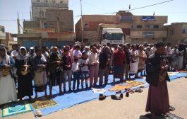 طقم عسكري يتبع حزب الإصلاح يقتحم ساحة صلاة جمعة أنصار عدنان الحمادي في مدينة التربة
