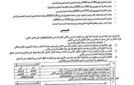 وزراة التربية والتعليم في عدن تصدر قراراً بشأن إعادة تزمين الدراسة للفصل الدراسي الثاني