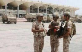 طائرة عسكرية سعودية تنقل دفعة جديدة من المجندين الى مطار  عدن الدولي