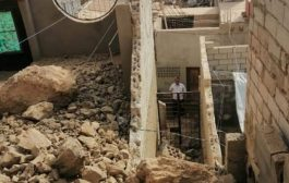 انهيار صخري في عدن يتسبب بتضرر منازل