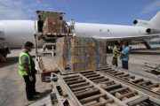 امداد طبي عبر طائرة اممية يصل مطار عدن الدولي