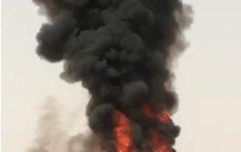 احتراق باص سياحي بالكامل يقل يمنيين قادمين من المملكة