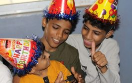 مبادرة حرائر عدن تسعد الأطفال في مركز الطفوله الآمنة بعدن