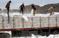 نهب المساعدات الإنسانية يحرم مواطني سيعة من حصصهم الغذائية