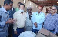 وكيل وزارة الزراعة يدشن توزيع شبكة الري بمديرية المقاطرة