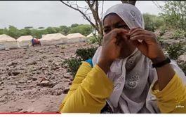 عنود غالب.. نازحة يمنية تعاني إعاقة تمنعها من الحركة